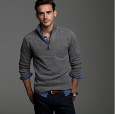 Sweater/collared shirt combo