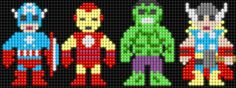 Avengers - Captain America, Iron Man, The Hulk, Thor (square board)