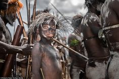 There are around 300 tribes of the Dani people and they live in small villages throughout the Baliem Valley - with some tribes consisting of just three or four members