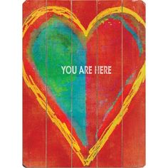 Artehouse LLC 'You Are Here' by Lisa Weedn Graphic Art on Wood