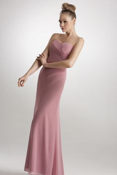 Chiffon, strapless bridesmaid dress http://www.findadress.co.uk/bridesmaids.html