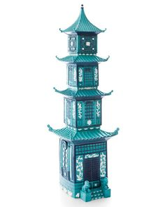 Jean Boggio for Franz Summer Palace Stackable Boxes Oriental Decor, Summer Palace, Cool Pins, Elle Decor, Chinoiserie, Layout Design, Accent Decor, Aqua, Teal