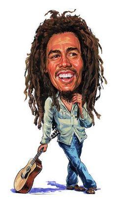 Bob Marley Caricature Hard Case for iPhone Bob Marley Painting, Bob Marley Art, Cartoon Faces, Funny Faces, Cartoon Art, Reggae Art, Reggae Music, Funny Caricatures, Celebrity Caricatures