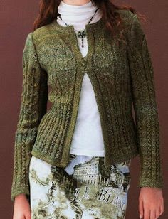 Free Knitting Patterns: Jacket 12 - hmmmm!