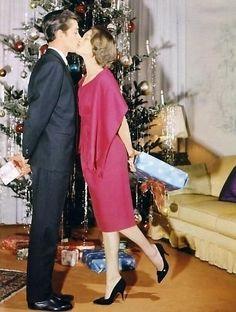 Romy Schneider & Alain Delon, 1959 - Xmas