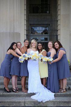 Yellow & Gray Wedding in Saratoga Springs