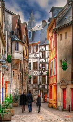 Walking into the past - Vieux Rouen - Seine-Maritime Places Around The World, The Places Youll Go, Places To See, Around The Worlds, Beautiful World, Beautiful Places, Beautiful Streets, Belle France, Beau Site