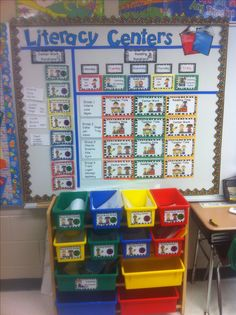Literacy Centers - Tomlin 2nd Grade Classroom, Classroom Themes, Classroom Activities, Classroom Organization, Future Classroom, Abc Activities, Preschool Ideas, Classroom Management, Literacy Work Stations