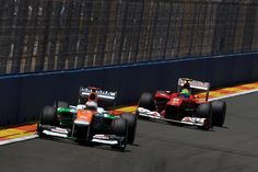 F1 European GP - Paul di Resta (GBR) Force India VJM05.  Formula One World Championship, Rd8, European Grand Prix, Race Day, Valencia, Spain, Sunday, 24 June 2012