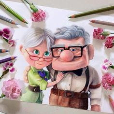 cartoon drawing by sambaileyartwork http://webneel.com/25-beautiful-color-pencil-drawings-valentina-zou-and-drawing-tips-beginners | Design Inspiration http://webneel.com | Follow us www.pinterest.com/webneel