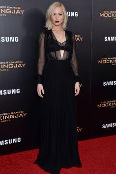 El 'look' gótico-sexy de Jennifer Lawrence, en cinco versiones - Foto 1 de 2