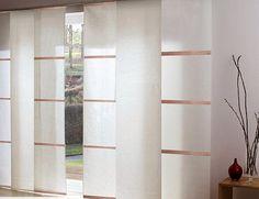 Stores japonais et panneaux rideaux oriental