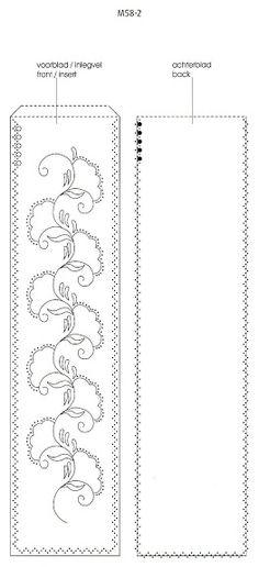 T T bookmark art deco floral