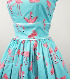 Flamingo dress.