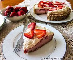 Vegan Strawberries and Cream Pie | Fragrant Vanilla Cake
