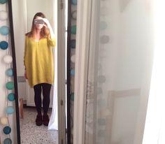 En ce moment, j'adore porter des pulls doudous, celui-ci est tellement long qu'il me fait une petite robe (faut avouer que je ne suis pas t...