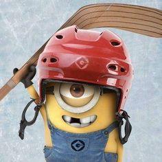 Minion Hockey.  I can't so cute!!!!