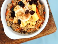 Carrot Cake Oatmeal | 34 Ways To Eat Carrot Cake For Every Meal