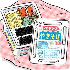 小学校の遠足で、クラスメートの女子の弁当箱がペヤングソース焼きそばの容器だった。つらかった。-死後くん