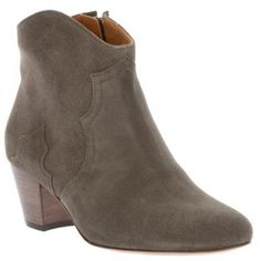 Comfortable Isabel Marant Ankle Boots Dicker Suede Short Boots Iron-gray