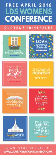 All Things Bright and Beautiful: 2016 LDS Women's Conference FREE Printable Quotes