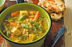 split pea and veggie curry-- A spicy vegetarian curry that is delicious and mildly hot. This is easy to cook. Serve with naan bread or boiled rice.