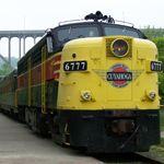 NPS photo of train ready to board passengers.
