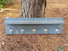 Rustic Modern Coat Hook With Shelf  River by CoastalOakDesigns
