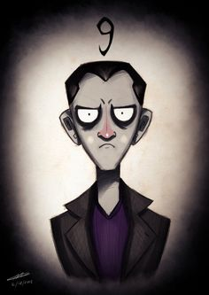 Tim Burton meets the Ninth Doctor  Chris Ecclestone is my Fav Doctor, I wish he was in more then 1 season