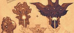 Designs de Paul Richards para o game Darksiders II