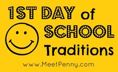 Ideas contributed by readers for 1st day of school (homeschool or public school) traditions as well as a book list of suggested reading for the first day of school.