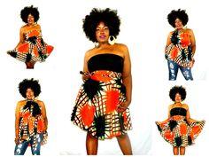 plus convertable clothing   Plus Size 14 20 Convertible Dress African by aconversationpiece