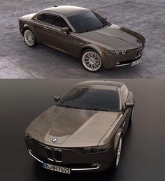 BMW E9 CS Vintage concept