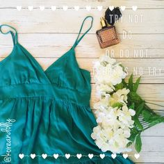 reducedGreen Baby doll shirt Soft green spaghetti strap shirt with adjustable strap. Very soft and comfortable!!!                                    ✨NO Trade ✨NO PayPal Tops Tank Tops