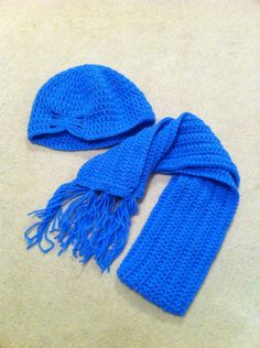Little lady butterfly hat and scarf