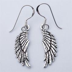 f28ebb0d7 925 Sterling Silver Angel Wings Dangle Drop Earrings Biker Jewelry Gifts  for Women Wife Her Girlfriend Girls Dropshipping YCE03-in Drop Earrings  from ...