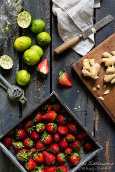 Strawberry Ginger Margarita Mix Ingredients