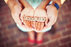 Wedding- cute couple or engagement photos. His hands holding hers, forever spelled out in scrabble tiles. Could be a whole scrabble theme. Couple Photography, Engagement Photography, Photography Poses, Wedding Photography, Engagement Couple, Engagement Pictures, Engagement Shoots, Engagement Ideas, Engagement Inspiration