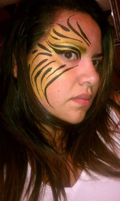 Sexy Tiger Face Painting by Lily!