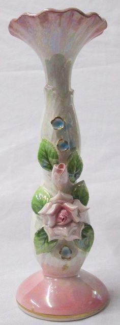 Vintage Norcrest Fine China Miniature Bud Vase Pink - Blue Label, #PR-14E, VGC #Norcrest