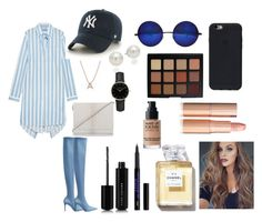 """""""Untitled #465"""" by pattieduraes on Polyvore featuring Balenciaga, MANGO, Brahmin, '47 Brand, Bony Levy, AK Anne Klein, ROSEFIELD, Marc Jacobs, Morphe and MAKE UP FOR EVER"""