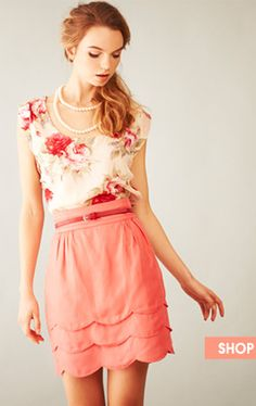Love 21 knockoff of Anthro's Scalloped Cloud Skirt (via anthroholic)