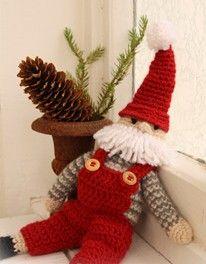 Spiegazioni in italiano per realizzare un pupazzo Babbo Natale a uncinetto.   Le istruzioni sono sul sito GarnStudio.  Vai alle Istruzioni Babbo Natale a Uncinetto.
