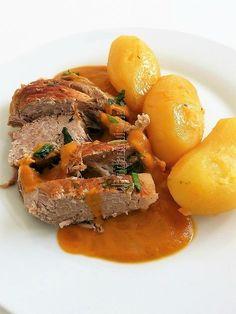 Rouelle de porc en cocotte Pot Roast, Hui, Pork, Beef, Cooking, Ethnic Recipes, Desserts, Poultry, Salads