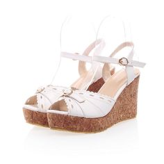 Charm Foot Fashion Womens Platform Wedge Heel Peep Toe Sandals -- You can get more details by clicking on the image.
