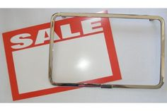 """3 Chrome Plated 7"""" x 11"""" Sign Holders For Gridwall and 12 Pre-Printed Signs by The Competitive Store- DirectSales10. $10.50. The 12 pre-printed signs include: 3 """"CLEARANCE"""", 3 """"REDUCED"""", 3 """"SPECIAL"""", and 3 """"SALE"""". Chrome Plated. Three 7"""" x 11"""" Sign Holders. 3 Sign holders and 12 pre-printed cards. 12 pre-printed 7"""" x 11"""" signs. 3 Chrome plated 7"""" x 11"""" sign holders for gridwall and 12 pre-printed signs.The 12 pre-printed signs include:3 """"CLEARANCE"""", 3 """"REDUCED"""", 3 """"SP..."""