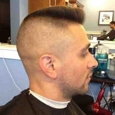 anthony-psychobilly - another one from Dave. Well done. Short Hair Cuts, Short Hair Styles, Flat Top Haircut, Beard Haircut, Psychobilly, Barber Shop, Guys, My Style, Guy Hair