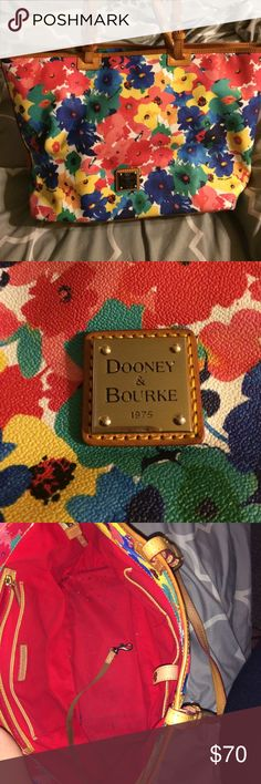 Dooney&Bourke Dooney & Bourke purse!! Super cute on perfect condition on outside no scratches, scuffs etc.. A little dirty on inside as seen in pic Dooney & Bourke Bags Totes