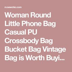 Woman Round Little Phone Bag Casual PU Crossbody Bag Bucket Bag Vintage Bag is Worth Buying - NewChic Mobile.