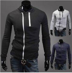 Men's Double Zipper Jacket